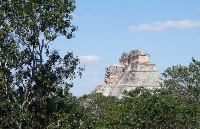"Uxmal (OOSH-mahl) means ""'built three times"" in the Mayan language, and though its name is a mystery, its beauty is not."