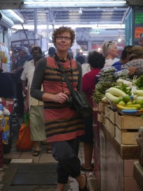 Annie at the market