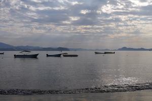 fishing boats in Santiago Bay