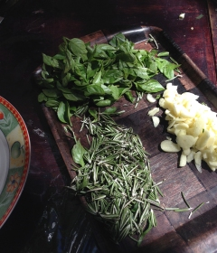 the basics: garlic, rosemary and basil