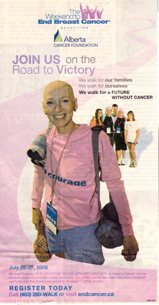 Best therapy ever was walking with 7 friends in the Weekend to End Breast Cancer - amazing where you find your strength