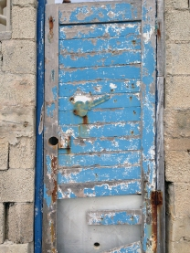 Blue Door with Key