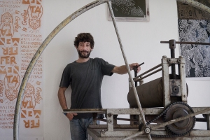 Manuel Taure in his studio