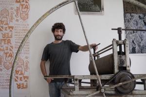 Manuel Taure in his studio