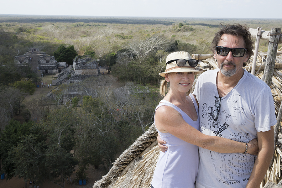Atop the ruins of Ek Balam with Don Ricardo