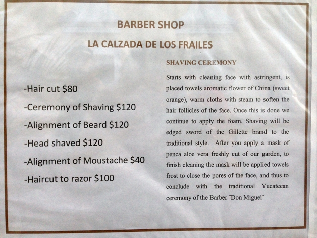 Ceremony of Shaving 120 pesos