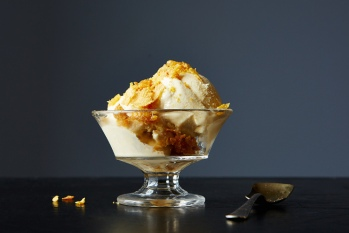 Christina Tosi's Ice Cream with Corn Flake Brittle ©First We Feast