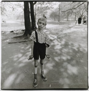 Diane Arbus' Child with Toy Hand Grenade in Central Park, New York City (1962) ©MET