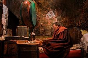 Tibetan Monk ©Ric Kokotovich