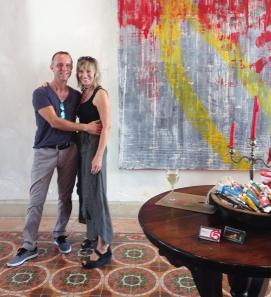 With painter Steve Lemire