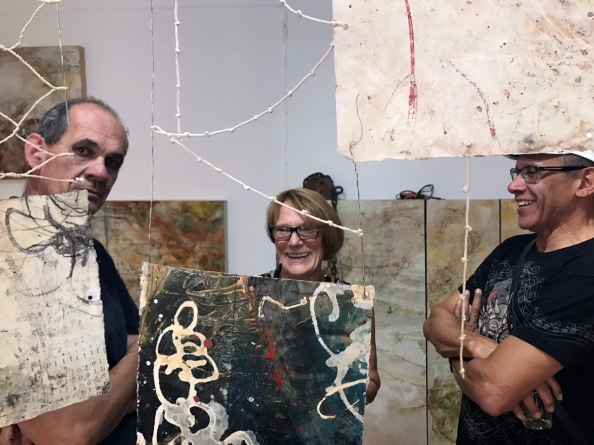 Artists George Samuelson and Lucinda Young
