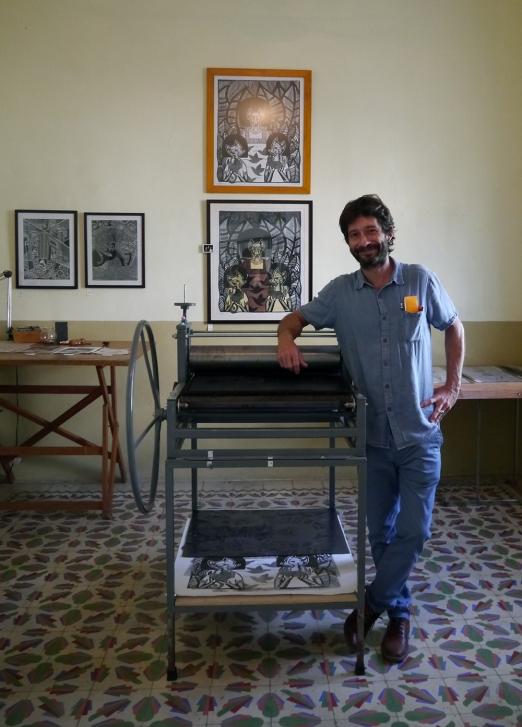 Printmaker Manuel Taure aka The Graphic Baker