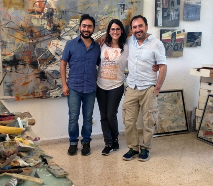 Power trio - artists Omar Said Charruf, Samia Farah, Emilio Said