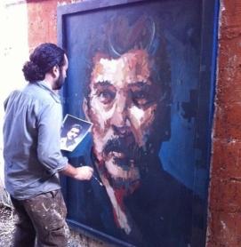 Painter Rodolfo Baeza