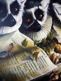 Detail on painting by Viviana Hinojosa